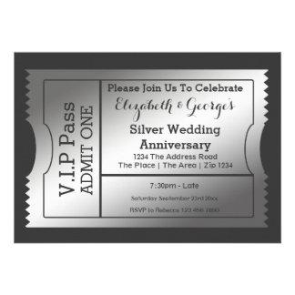 Le VIP passent le billet d'anniversaire de noces d Invitations Personnalisées