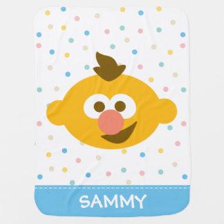Le visage   de bébé d'Ernie ajoutent votre nom Couvertures Pour Bébé