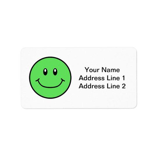 Le visage de sourire marque le vert 0001 étiquettes d'adresse