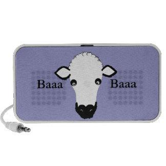 Le visage mignon de moutons ajoutent le texte haut-parleurs portables