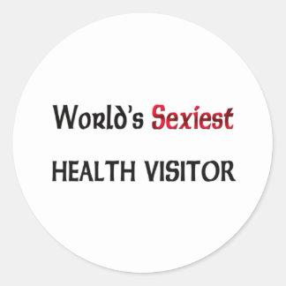 Le visiteur de la santé le plus sexy du monde sticker rond