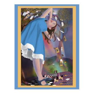 Le vol d'Alice carde la carte postale