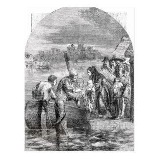 Le vol de la reine de James II Carte Postale