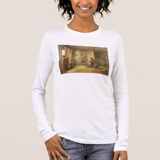 Le volant égaré (huile sur la toile) t-shirt à manches longues