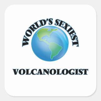 Le volcanologue le plus sexy du monde sticker carré