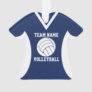 Le volleyball folâtre le bleu du Jersey