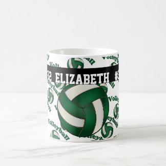Le volleyball vert-foncé | personnalisent mug
