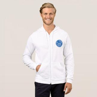 Le vote montre votre caractère -- Bleu et blanc Veste À Capuche