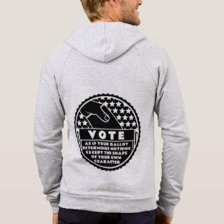 Le vote montre votre caractère -- Noir et blanc Veste À Capuche