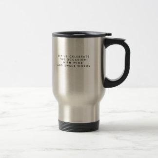 Le voyage attaque les cadeaux uniques d'acier mug de voyage