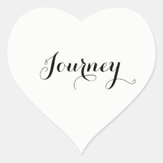 Le voyage blanc de mariage ou éditent à votre mot sticker cœur