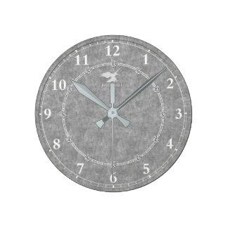 Le vrai platine a décoré la vente moderne horloge ronde