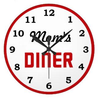 Le wagon-restaurant de la maman grande horloge ronde