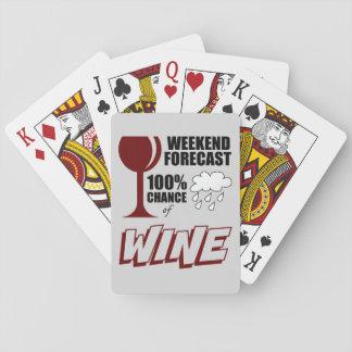 Le week-end a prévu la possibilité nuageuse de jeux de cartes
