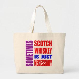 Le whisky parfois écossais est simplement sac en toile jumbo