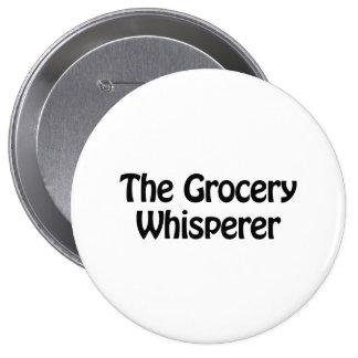 le whisperer d'épicerie badge rond 10 cm