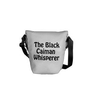 le whisperer noir de caiman besace
