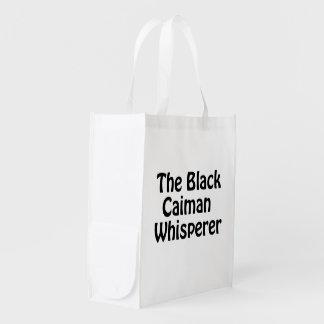 le whisperer noir de caiman sacs d'épicerie