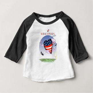 le Wisconsin bruyant et fier T-shirt Pour Bébé