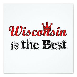 Le Wisconsin est le meilleur Carton D'invitation 13,33 Cm