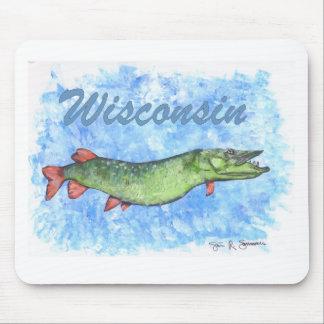 Le Wisconsin Muskie Tapis De Souris