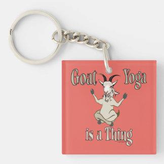 Le yoga de chèvre est une chose | GetYerGoat™ Porte-clé Carré En Acrylique Double Face
