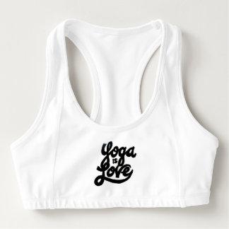 le yoga est soutien-gorge de sports d'amour