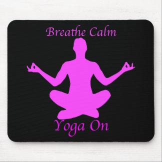 Le yoga Mousepad respirent le calme Tapis De Souris