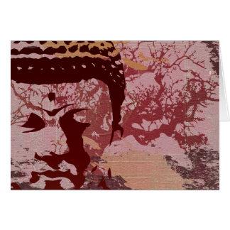 Le yoga parlent : Graphique d'arbre de Bouddha Carte De Vœux