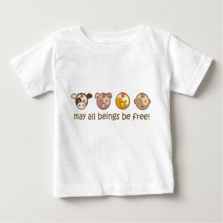 Le yoga parlent le bébé : Mai tous les êtres T-shirt Pour Bébé