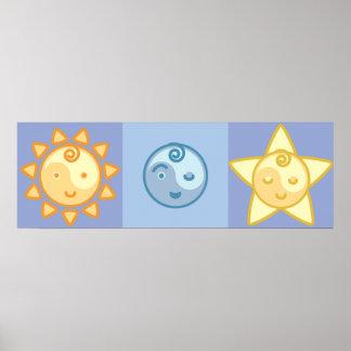 Le yoga parlent le bébé : The Sun, la lune et les  Posters