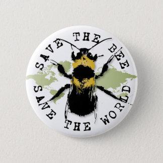 Le yoga parlent : Sauvez les économies d'abeille… Badge