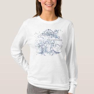 "Le yoga parlent : ""Soyez"" Chakra bleu expressif T-shirt"