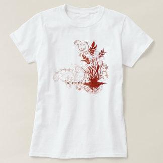 """Le yoga parlent : """"Soyez"""" Chakra rouge enraciné T-shirt"""