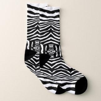 Le zèbre a inspiré les chaussettes blanches noires