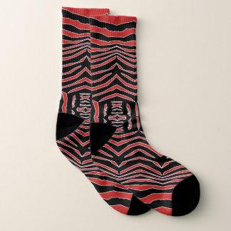 Le zèbre a inspiré les chaussettes noires rouges