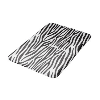 Le zèbre blanc noir barre le tapis de bain de