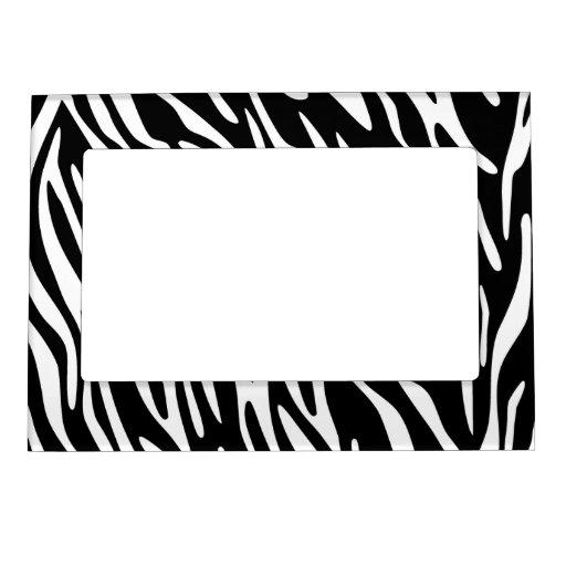 le z bre noir et blanc barre le cadre de photo d 39 a cadres magn tique zazzle. Black Bedroom Furniture Sets. Home Design Ideas