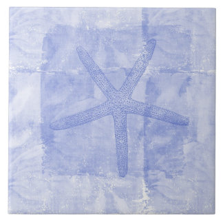 Le zen a inspiré des étoiles de mer de thème de pl grand carreau carré