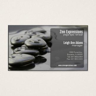 le zen bascule le carte de visite de yoga