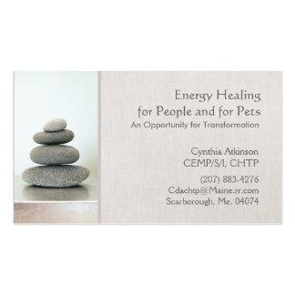 Le zen empilé lapide la santé et la santé holistiq modèles de cartes de visite