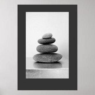Le zen empilé lapide l'affiche poster