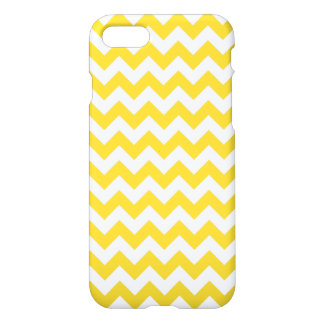 Le zigzag jaune barre le motif de Chevron Coque iPhone 7