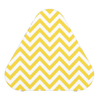 Le zigzag jaune et blanc barre le motif de Chevron Haut-parleur Bluetooth