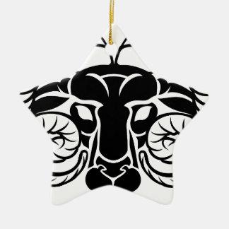 Le zodiaque signe l'icône de Bélier Ornement Étoile En Céramique