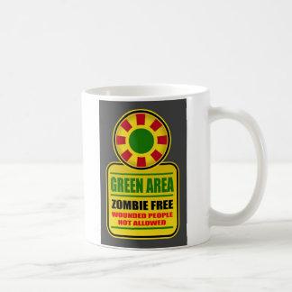 Le zombi de l'espace vert libèrent la tasse