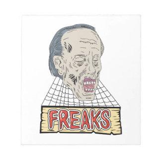 Le zombi Freaks le dessin de toiles d'araignée Bloc-note