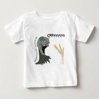 Le zombi végétarien veut Graaaains ! T-shirt Pour Bébé