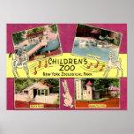 Le zoo des enfants, zoo de Bronx, cru de NY Affiche