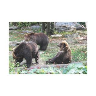 Le zoo soutient reposer l'affiche de toile